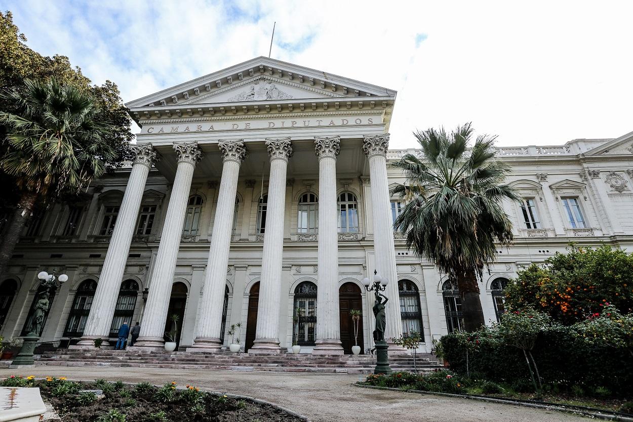 Imagen de la fachada del Congreso Nacional Sede Santiago.   ?>