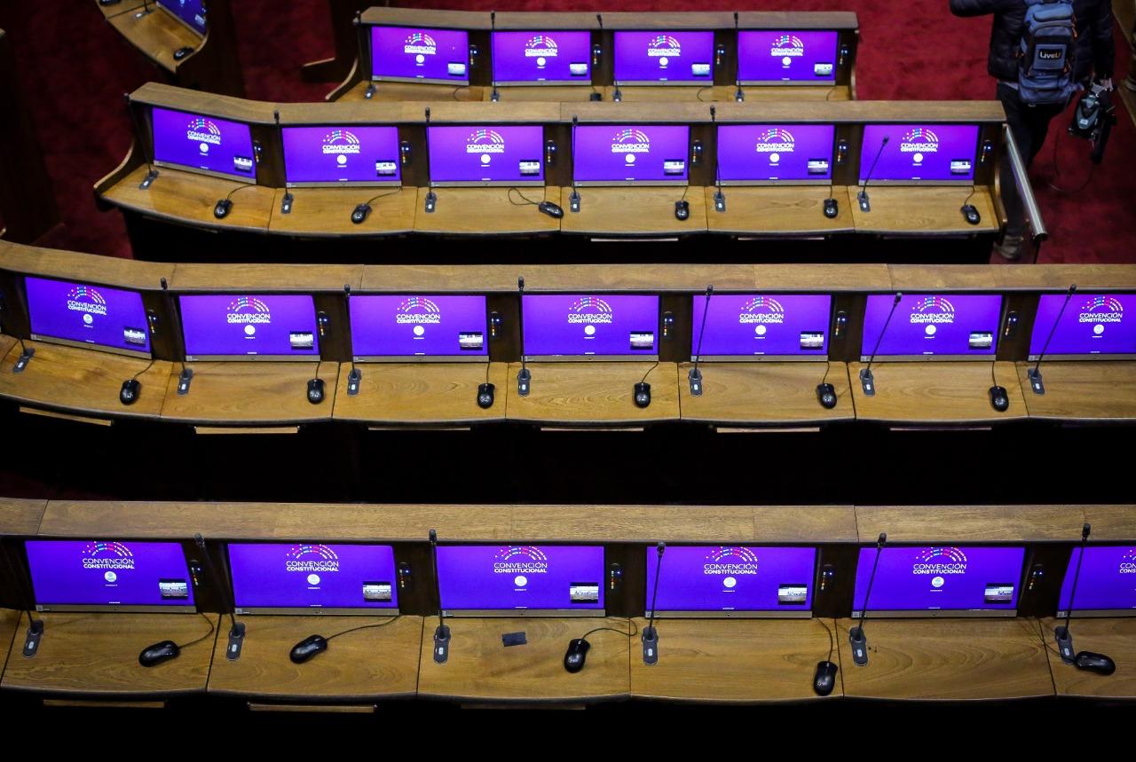 Las pantallas computacionales y nuevas instalaciones del hemiciclo de la Cámara.  ?>