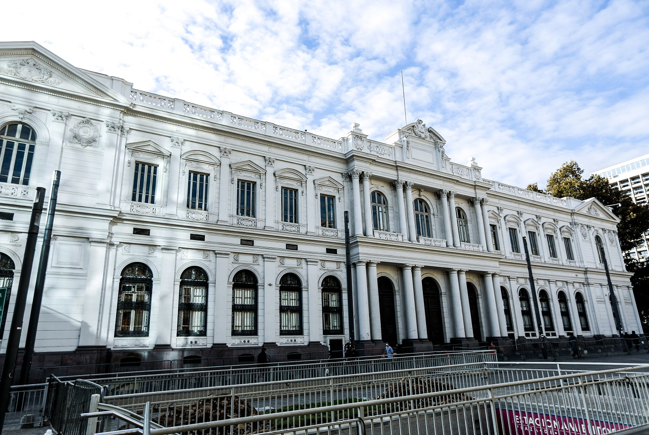 El palacio de La Moneda. ?>