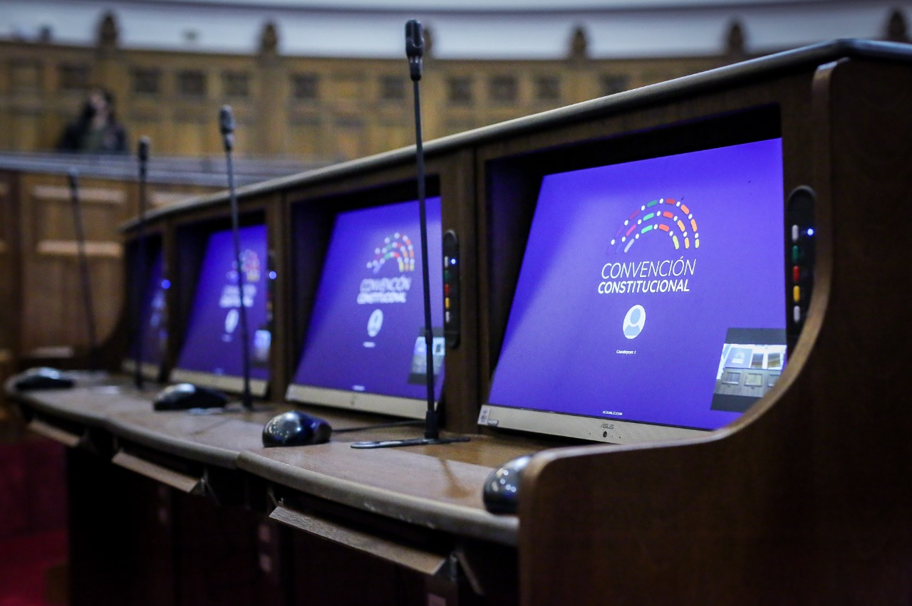 Imagen de los computadores en el hemiciclo de la Cámara.